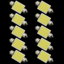 2017 New Products 10pcs/lot 31mm/36mm/39mm/41mm 12V COB Festoon LED Car Bulb Auto Led Interior Light Lamps parking