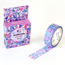 1.5cm*7M Watercolor Purple washi tape DIY decorative scrapbooking masking tape adhesive label sticker tape stationery