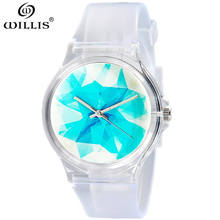 WILLIS Fashion Women's Watches Relogio Masculino Waterproof Ice cubes Dial Montre enfant Quartz girl Wrist Watches 2017 New