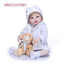 Buy NPKCOLLECTION New Handmade Full Silicone Vinyl Body Adorable Lifelike Toddler Baby Realistic Princess Baby Toy Doll Children