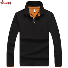 UNCO&BOROR Brand Mens Designer 95% cotton Polos Hombre Casual Long Sleeve Solid Polo Shirts Homme Camisetas Masculinas shirt