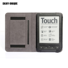 ENJOY-UNIQUE High quality Leather case cover For pocketbook Touch Lux Reader with hand holder(China)