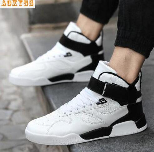 New 2016 Fashion Casual Men Shoes High Tops Men Comfortable Walking Shoes Men Breathable Outdoor Shoes for Man Trainers<br><br>Aliexpress