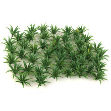 50pcs Green Scenery Landscape Model Sword Grass 1/60-1/75 Artificial Landscape Grass Fake Garden Grass Dollhouse Decoration