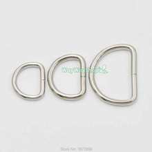 20 PCS Metal Non Welded Dee Rings Webbing Bag Buckle Nickle Use for Bag Clothing Belts Clothing Technology 3 Size Choice(China)