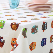 1 Piece Korean Cotton Thickening Owl Tablecloth/ Children's Cartoon Table Cloth/ Home Thick Canvas Table Cloth Cover Towels
