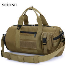 Tactical Bag Mountaineer Gym Bags Waterproof Men Fitness Travel Bag Outdoor Sports Ball Handbag Shoulder Tote For Male XA118WA