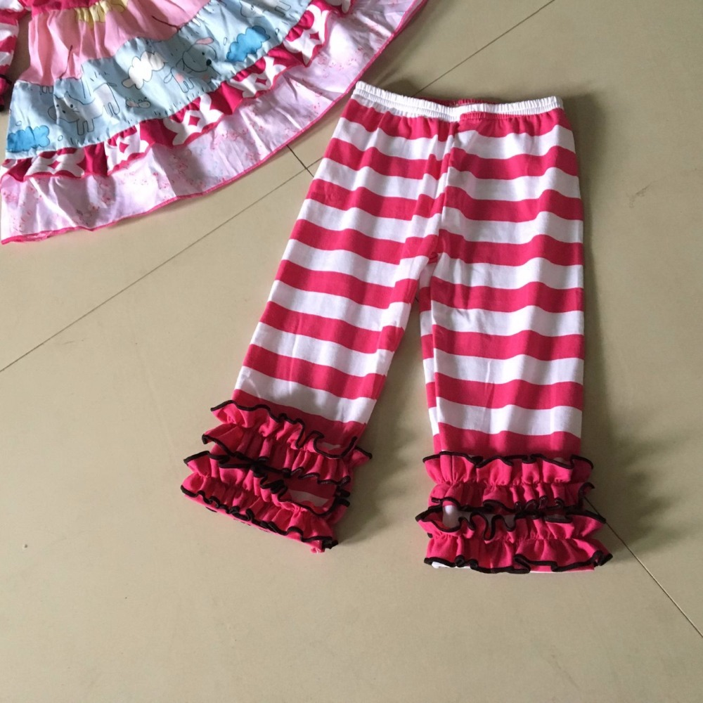 Regular 3/4 sleeves kids style Summer and Autumn Infants and Children 3 different ruffles Baby Dress of Girls Apparel Accessory<br>