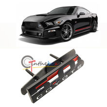 1PC Black 5.0 COYOTE Metal Front Grill Grille Emblem Sticker for Ford Mustang