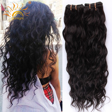 Sunlight Human Hair Brazilian Virgin Hair 4 Bundles Brazilian Water Wave Wet And Wavy Human Hair Weave Curly Hair Extensions