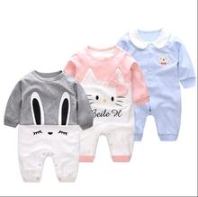 Baby Clothes Boys Girls Rompers Newborn Baby Garment Cotton Rompers Climb Clothes Sleep Wear Jumpsuit Kitty Bear Design