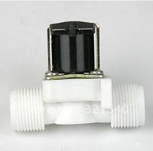 "3/4""BSPP 2Way Nylon Plastic Gravity Feed Solar Solenoid Valve  Normally Closed Water Air Gas Heater Washer Wash Machine"