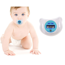 Diagnostic-tool Portable Digital LCD Pacifier Thermometer For Baby Body Temperature Nipple Soft Safe Mouth Thermometer Baby Care