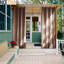 NICETOWN Triple Weave Microfiber Home Thermal Insulated Ring Top Blackout Indoor Outdoor Window Curtain 1 Panel(China)