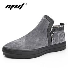 -40C Size47 Warm Men Winter Boots Quality Suede Leather Men Boots Fur Plush Snow Boots Winter Shoes Men Outdoor Boots Shoes