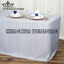 Good Looking Fitted Polyester Table Cover Wedding Banquet Event Tablecloth Free Shipping