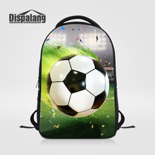 Dispalang Multifunction Men 14 Inch Laotop Backpacks For Teenagers Cool Footballs Printing School Bags Boys Fashion Mochila Pack