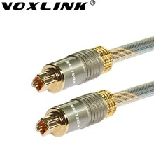 VOXLINK Toslink Digital Cable Gold-plated Optical Audio Cable 1M 1.5M 3M Fiber Audio Cable For Projector TV Audio DVD PC