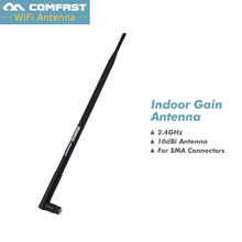 Hot ! Comfast WIFI Antenna 2.4 GHz 10dBi SMA FeMale Wireless WLAN Black Floding Omni Router WIFI Card WIFI Antennas CF-ANT2410I