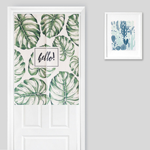 Nice Curtains Door valance curtains Beautiful The Nordic Plant Printing Width 85cm,Length 90cm/120cm,Home Decor Door Valance Cur