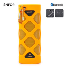 TUTUO MS-319AX Bluetooth Speaker Portable Wireless Waterproof Bluetooth 4.0 NFC Mini Speaker for Indoor Outdoor Sports (Orange)