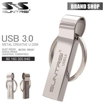 Suntrsi impermeable usb 3.0 flash drive 8g 16g pen drive 32g 64G de Almacenamiento de Memoria USB del Palillo de Pendrive llavero usb flash drive