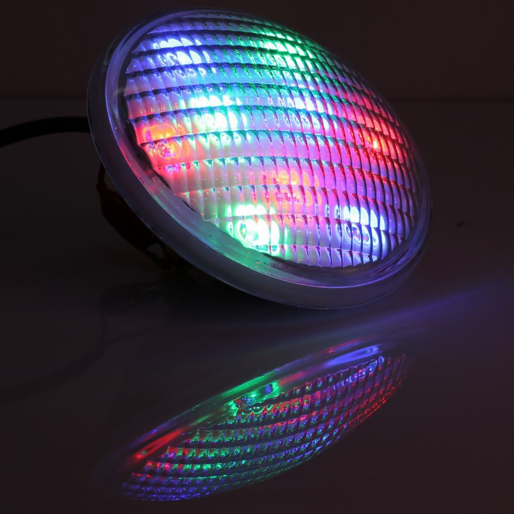IP68 12V LED Swimming pool light underwater lights PAR56 54W(18*3W)RGB,Contains the remote control free shipping(China)