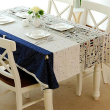 hot table cloth rectangular linen cotton dust proof tablecloth printed table cover for wedding party home decoration(China)