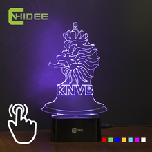 7 Colors Changing USB Led Night Light 3D Lamp for Netherlands Football Team Fans as Home Bedroom Decor Desk Lampara Nightlight