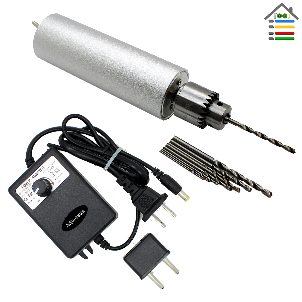 Free Shipping 3-12V Adjustable Speed Aluminum Electric Hand Drill DIY PCB JTO Chuck Twist Bits for Woodworking Hobby Tool<br><br>Aliexpress