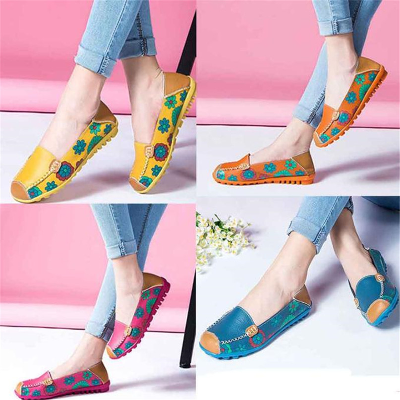 Jasmine New Women Leather Shoes Loafers Soft Leisure Flats Female Casual Shoes Dec8<br><br>Aliexpress
