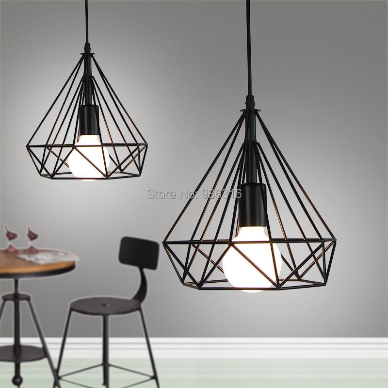 Antique Vingate Industrial Country Style Pendant LIghts Loft Black E27 LED Edison Bulb Lustres Pendant Lamp Fixture<br>