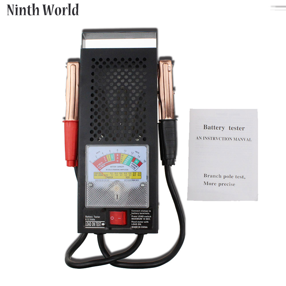 2017 New Battery Load Tester Equipment Voltage Tool Automotive Vehicular Electromobile 6V 12V Accurate Indication Device<br>