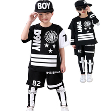 Kids Hip Hop Clothing For Boys Girls Teenage Boys Clothes Set 8 9 10 11 12 13 14 15 16 Years Children Sport Costumes