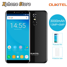 Originl OUKITEL C8 3G Mobile Phones Android 7.0 2GB RAM 16GB ROM Quad Core Smartphone Dual SIM 5.5 inch Fingerprint Cell Phone(China)