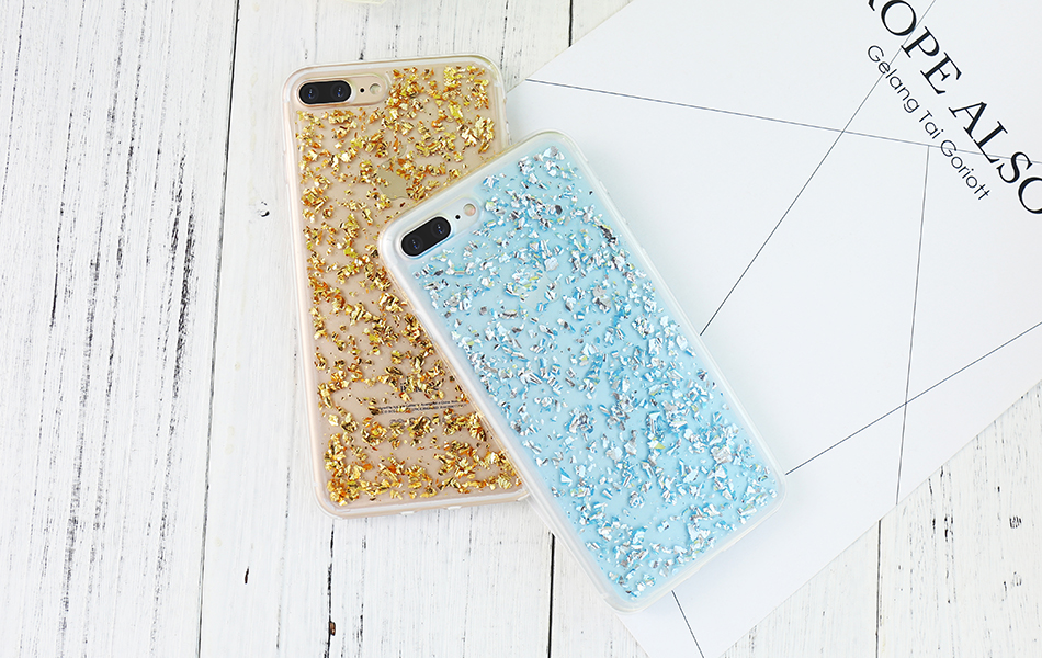 DOEES For iPhone 7 6 6S Plus 5 5S SE Case Luxury Cute Glitter Clear Case For Samsung Galaxy S8 Plus S7 S6 Edge S5 Note 7 5 Back Cover (13)