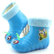 2017 New arrival children rain shoes boys and girls cartoon caterpillar crystal rain boots kids fashion shoes