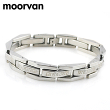 Moorvan hot vintage egypt style 21cm 11m great wall bracelet male's fashion bijoux steampunk stainless steel for unisex VCB07