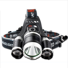 3 x LED Cree T6 Waterproof Headlamp 4 Models 5000 Lumnes Rechargeable  Head Headlight For Hunting With 18650 Battery