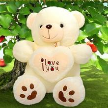 1pcs 50cm Stuffed Plush Toy Holding I Love You Heart Big Plush Teddy Bear Soft Gift for Valentine Day Birthday Girls