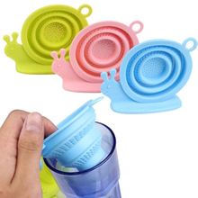 1 Pcs Silicone Mesh Tea Infuser Reusable Strainer Loose Tea Leaf Spice Filter, Snails Tea Infuser Filter Tools Tea accessories(China)