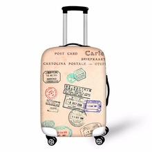 FORUDESIGNS 3D Stamps Prints Travel Luggage Protective Covers Waterproof Elastic Stretch Suitcase Cover 10-30 Inch Trolley Case