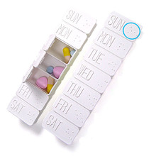 Best Quality 7 Day Tablet Pill Box Holder Weekly Medicine Storage Organizer Container Case(China)