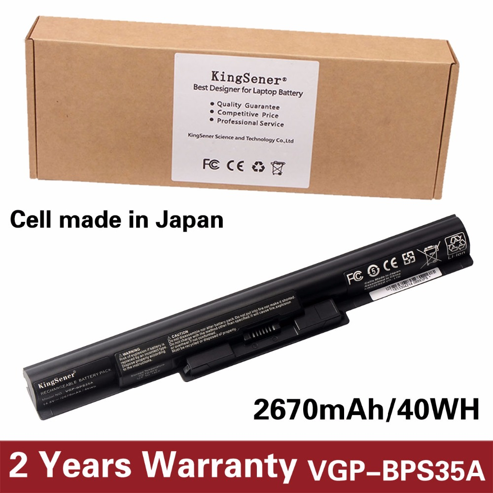 KingSener Japanese Cell VGP-BPS35A Battery For SONY Vaio Fit 14E 15E Series BPS35A SVF1521A2E SVF15217SC SVF14215SC SVF15218SC<br>