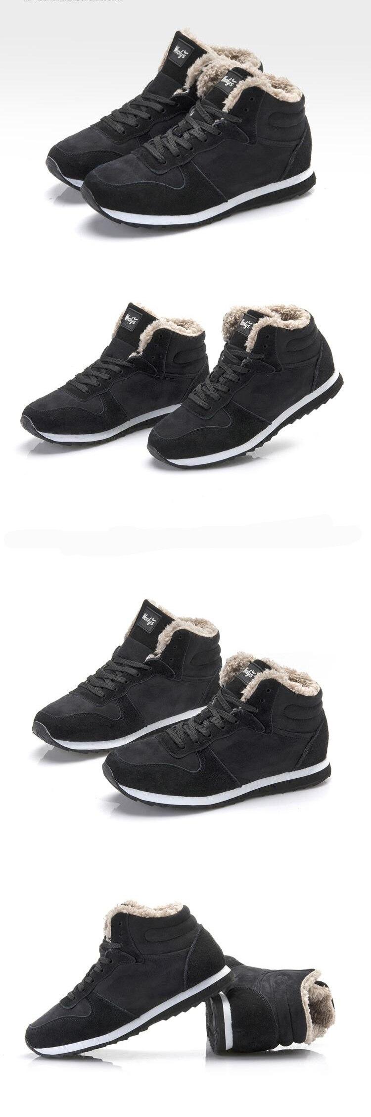 New Couple Unisex Super Warm Man Boot Fashion Men Winter Snow Boots Keep Warm Boots Plush Ankle Work Shoes Men Snow Boots 36-48 22