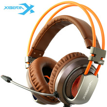 Gaming Headphone Vibration Big Earphones & Headset with Microphone Brand Xiberia Original Genuine For gamer 3.5mm v10