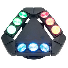 china new products led bar light 9pcs*12W 4 in 1 cree led beam moving head spider light for dj equipment
