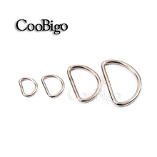 12pcs ~1000pcs Pack Nickel Plated D-Ring NonWelded Strapping  4 Webbing Dee Rings For Dog Collar Garment Backpack #FLQ051
