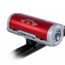 K-MIC Outdoor Wireless Bluetooth Speaker for Phone Flashlight TF Card MP3 Audio Subwoofer Bike Riding Portable Mobile Power Bank