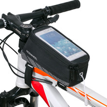 ROSWHEEL Road MTB Bicycle Bike Bags Accessories Cycling Frame Front Top Tube Saddle Bags 4.8/5.5 Cell Phone Case Touch Screen